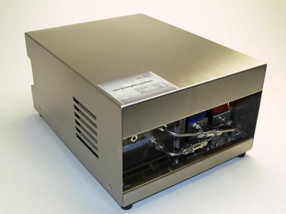 Verdampfersystem bestehend aus MFC für Gase, MFC für Flüssigkeiten und Verdampfer VAPO incl. aller Fittings